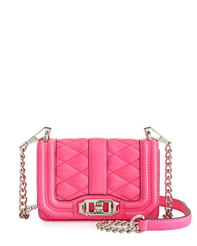 Mini-Love Crossbody Bag, Electric Pink