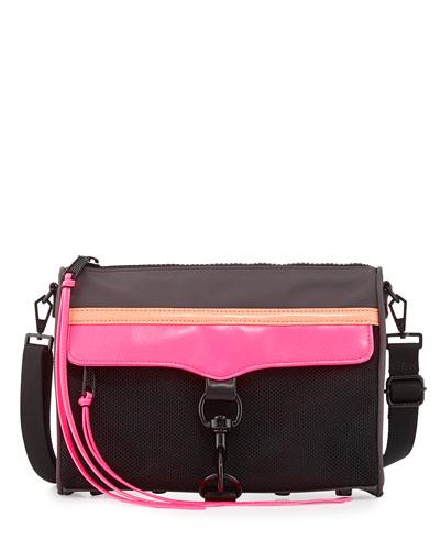MAC Nylon Crossbody Bag, Black Multi