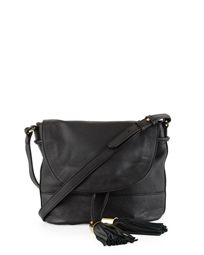 Vicki Vachetta Leather Crossbody Bag, Black