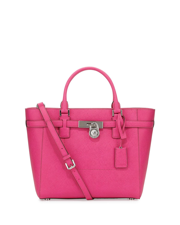 420a83fad348 MICHAEL Michael Kors Hamilton Large Tote Bag, Raspberry | Neiman Marcus
