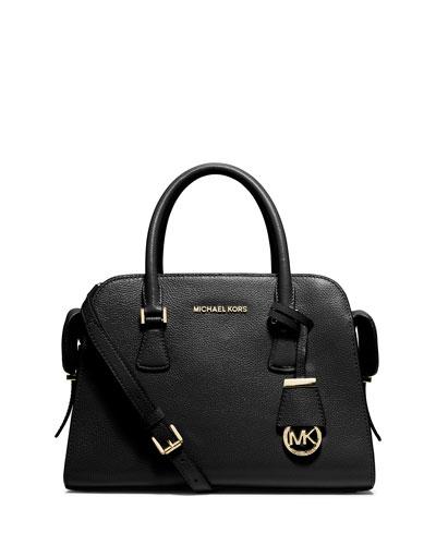 Harper Medium Satchel Bag, Black