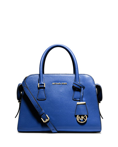 Harper Medium Satchel Bag, Electric Blue