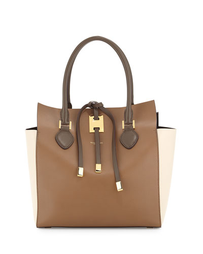 Miranda Medium Colorblock Tote Bag, Desert