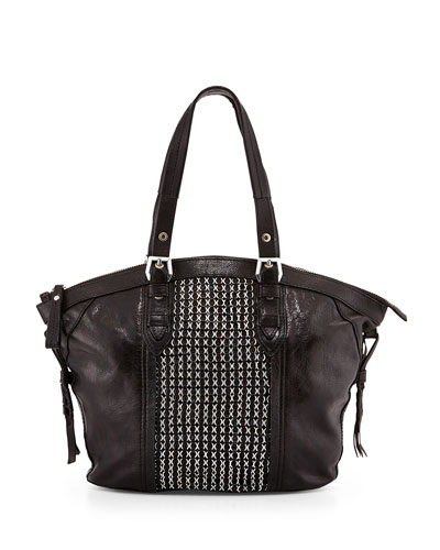 Betsy Chainmail Tote Bag, Black