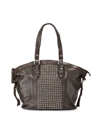 Betsy Chainmail Tote Bag, Forest