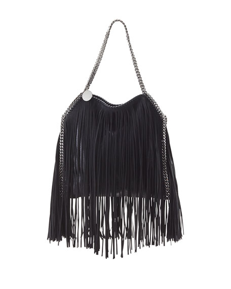 Stella McCartney Baby Bella Fringe Tote Bag, Black
