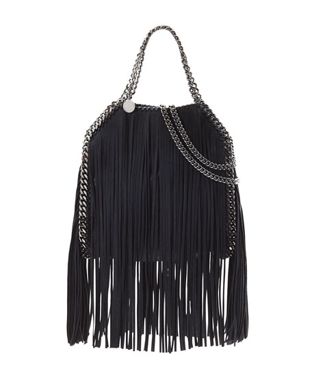 Stella McCartney Falabella Mini Fringe Tote Bag, Black