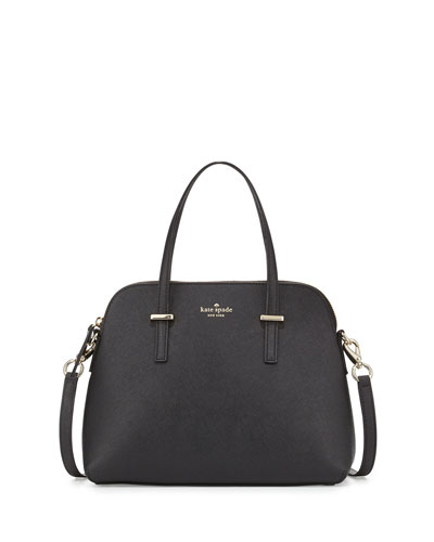 cedar street maise satchel bag, black