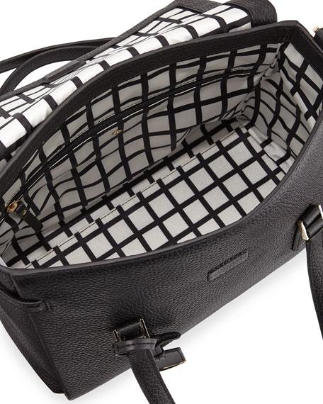 kate spade new york holden street leslie satchel bag, black