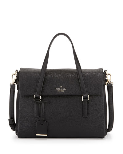 holden street leslie satchel bag, black