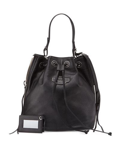 Papier Plate Side-Zip Bucket Bag