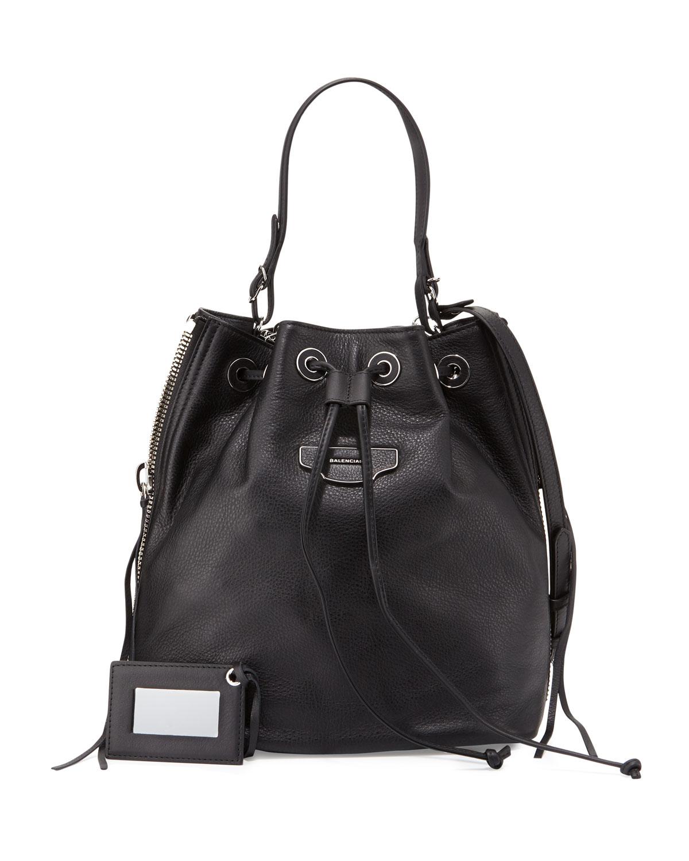 929bb8a706 Balenciaga Papier Plate Side-Zip Bucket Bag