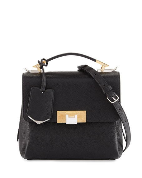 Balenciaga Le Dix Soft Pebbled Mini Satchel Bag,