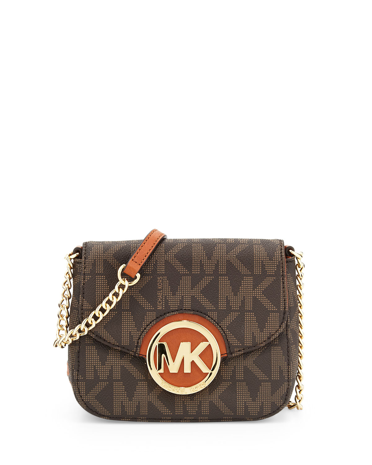 bdba2c18717e MICHAEL Michael Kors Small Fulton Logo Crossbody Bag, Brown | Neiman ...