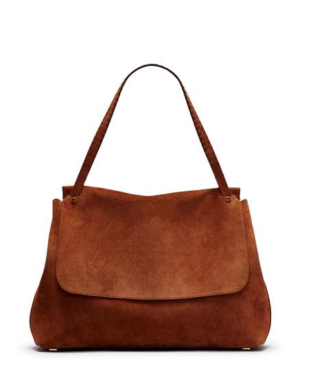 Top-Handle 14 Satchel Bag, Saddle