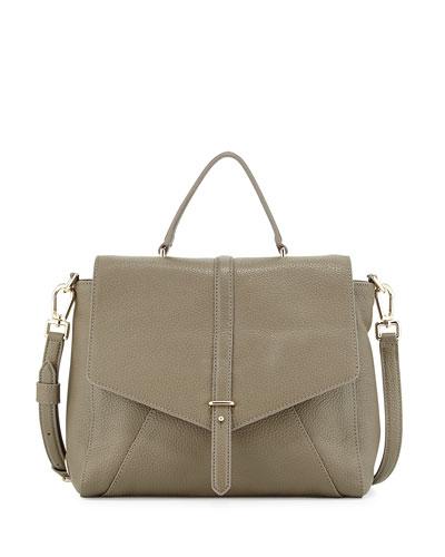 797 Pebbled Leather Satchel Bag, Porcini