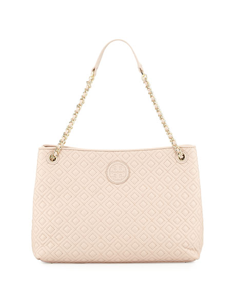 Tory Burch Marion Quilted Slouch Shoulder Bag, Light