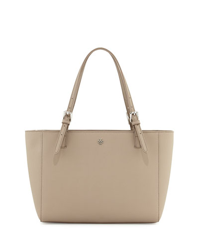York Saffiano Leather Tote Bag, French Gray