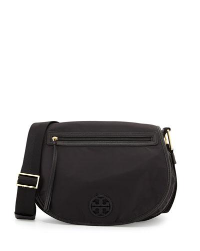 Nylon Messenger Bag, Black