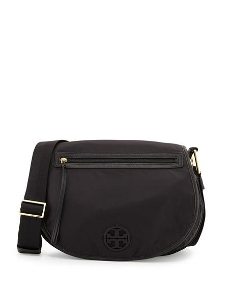 Nylon Messenger Bag Black