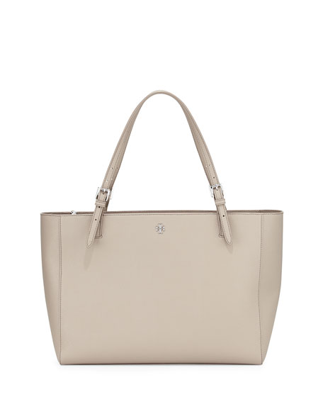 Tory BurchYork Saffiano Leather Tote Bag, French Gray