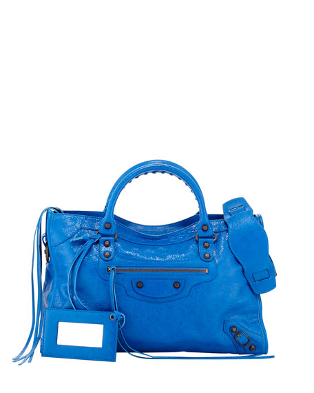 BalenciagaClassic City Bag, Blue