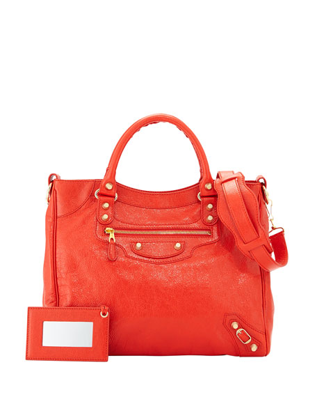 BalenciagaGiant 12 Velo Lambskin Bag, Red Orange