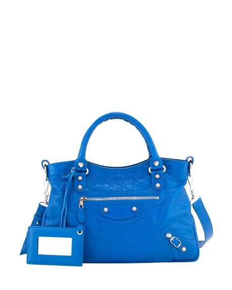 Balenciaga Giant 12 Nickel Town Bag, Bleu