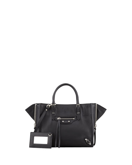 Balenciaga Papier A4 Mini Leather Tote Bag, Bright