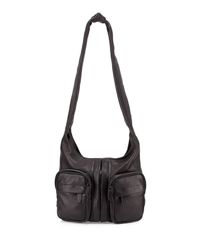 Donna Knotted Zip Hobo Bag