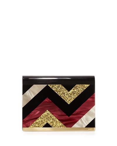 Lisa Medium Flap Crossbody Bag, Merlot Multi