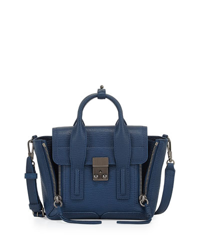 Pashli Mini Satchel Bag, Lapis