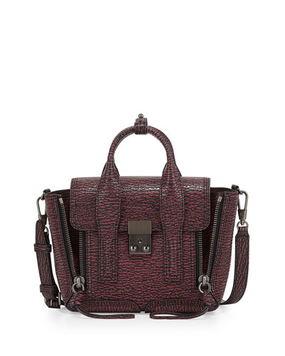 Pashli Mini Satchel Bag, Maroon