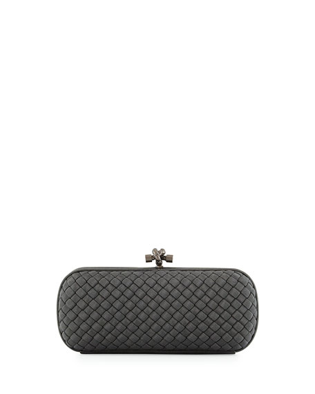 Bottega Veneta Faille Stretch Knot Minaudiere Bag, Medium