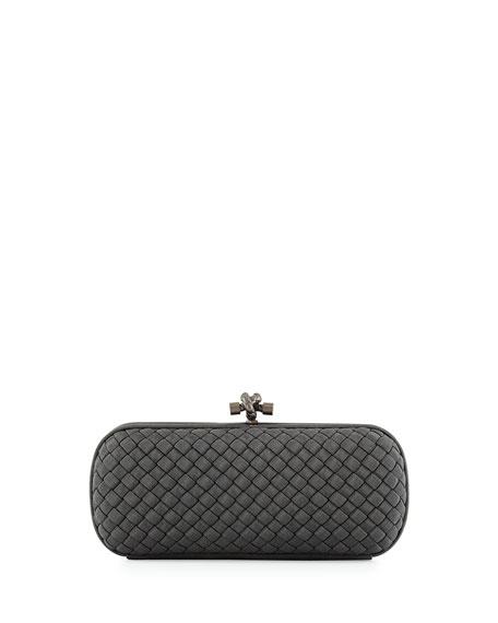 Bottega Veneta Faille Stretch Knot Minaudiere Bag, Medium