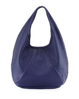 Cervo Large Open-Shoulder Hobo Bag, Royal Blue