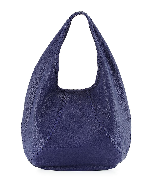 85f8992238 Bottega Veneta Cervo Large Open-Shoulder Hobo Bag
