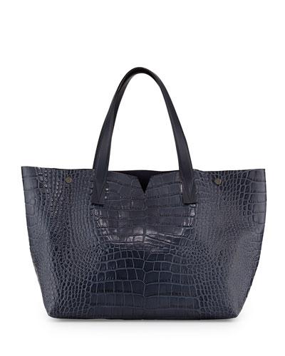 Signature Crocodile-Embossed Tote Bag