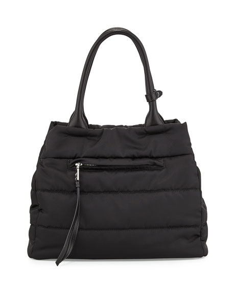 Prada Tessuto Bomber Tote Bag, Black (Nero)