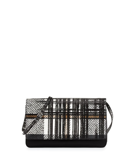 prada nylon tote bag - Prada Tessuto and Saffiano Print Tartan Shoulder Bag, White Multi ...