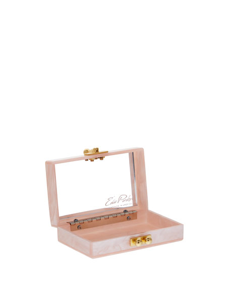 Minnie Acrylic Clutch Bag, Rose Quartz