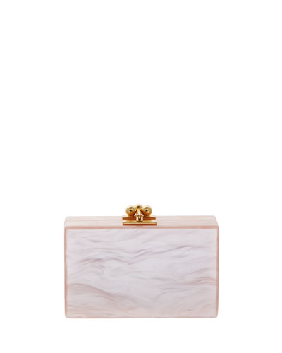 Minnie Acrylic Clutch Bag, Rose Quartz