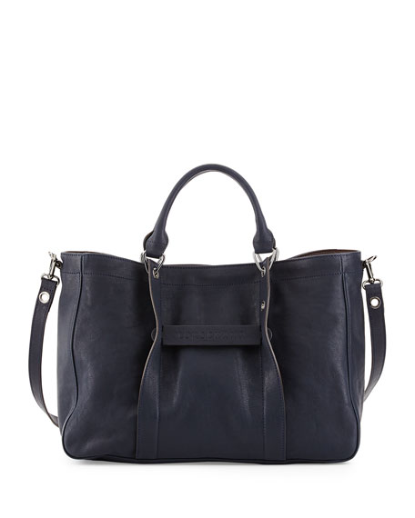 Longchamp 3D Medium Tote with Removable Strap, Midnight