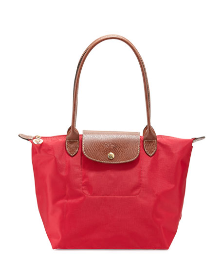 Longchamp Le Pliage Medium Shoulder Tote Bag, Red