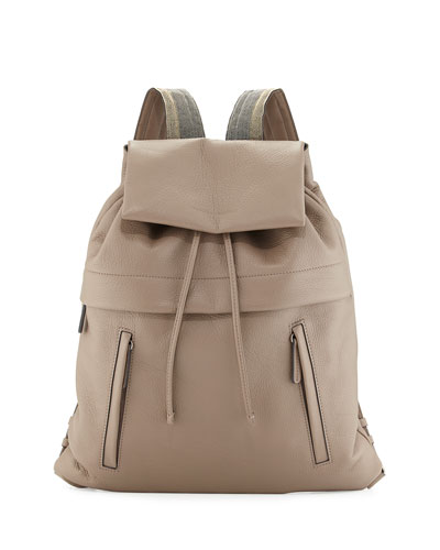 Calfskin Backpack w/Monili Straps