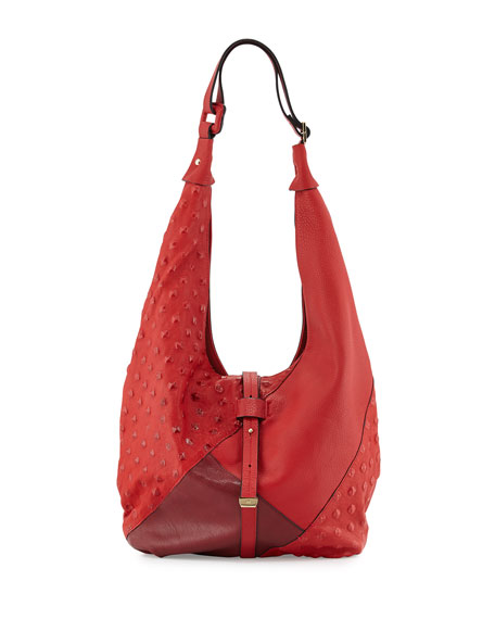Colorblock Hobo Bag, Chili
