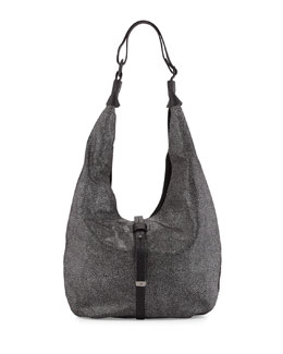 Colorblock Hobo Bag, Black