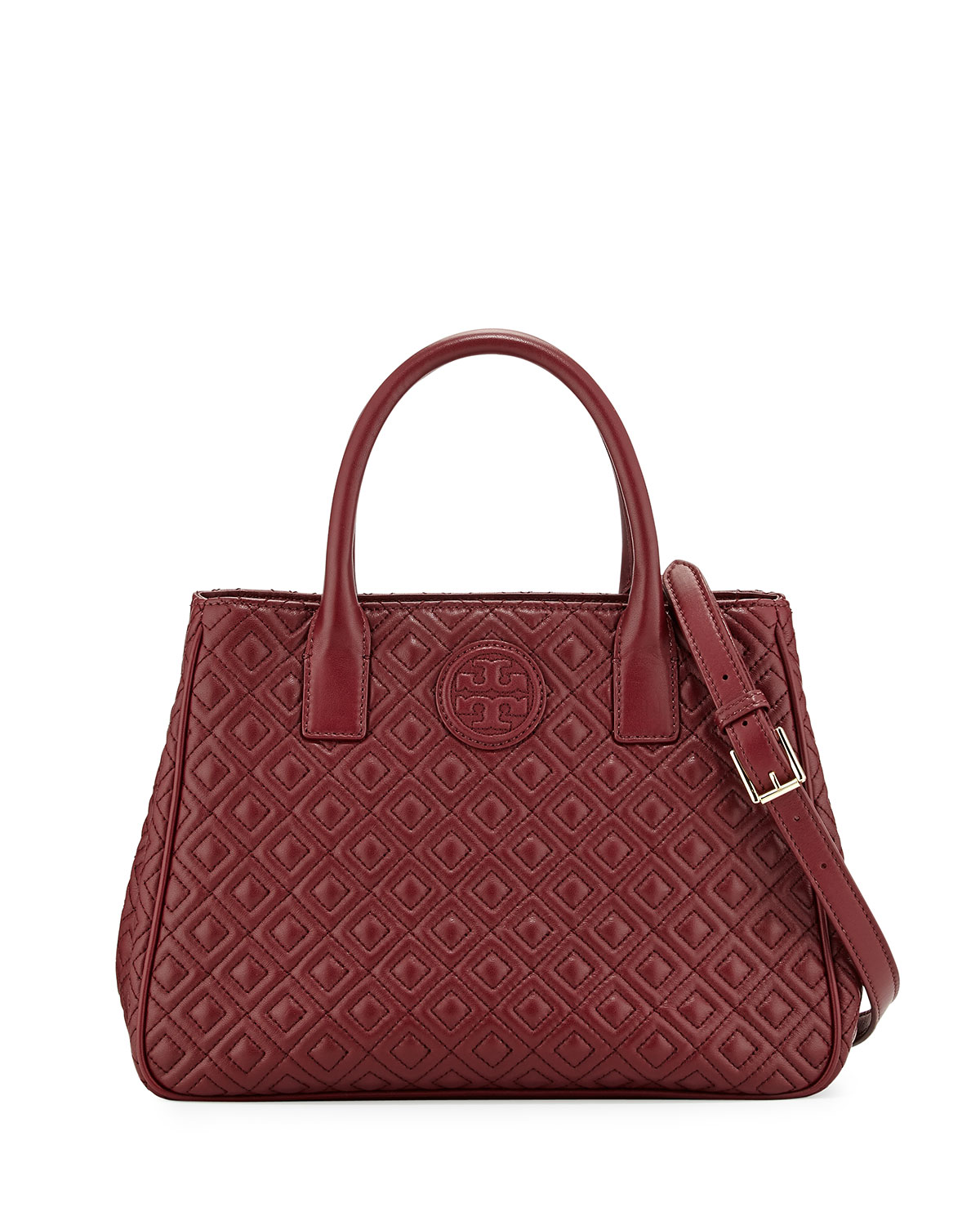 Tory Burch Marion Quilted Tote Bag Red Agate Neiman Marcus