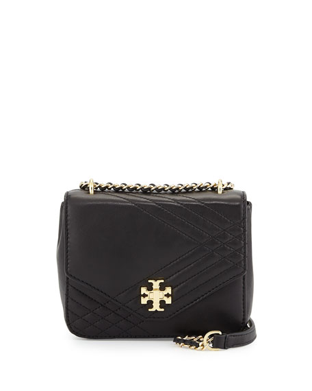 Kira Mini Quilted Crossbody Bag Black