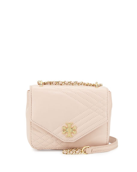 Tory Burch Kira Mini Quilted Crossbody Bag, Light Oak